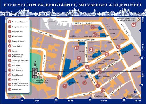 Stavanger Shopping Map