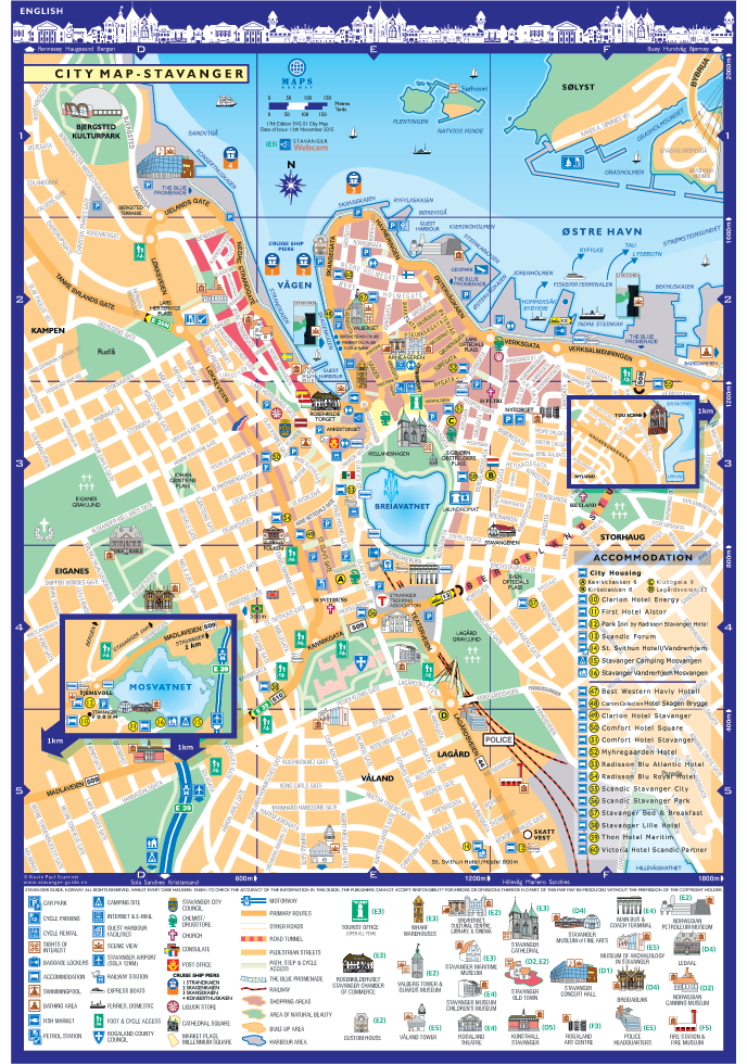 photo about Printable Map of Norway identified as Stavanger Stavanger Town Map Norway PDF Maps
