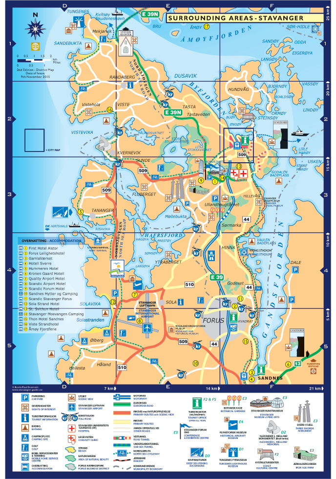 Stavanger Stavanger City Map Norway PDF Maps - Norway map download pdf