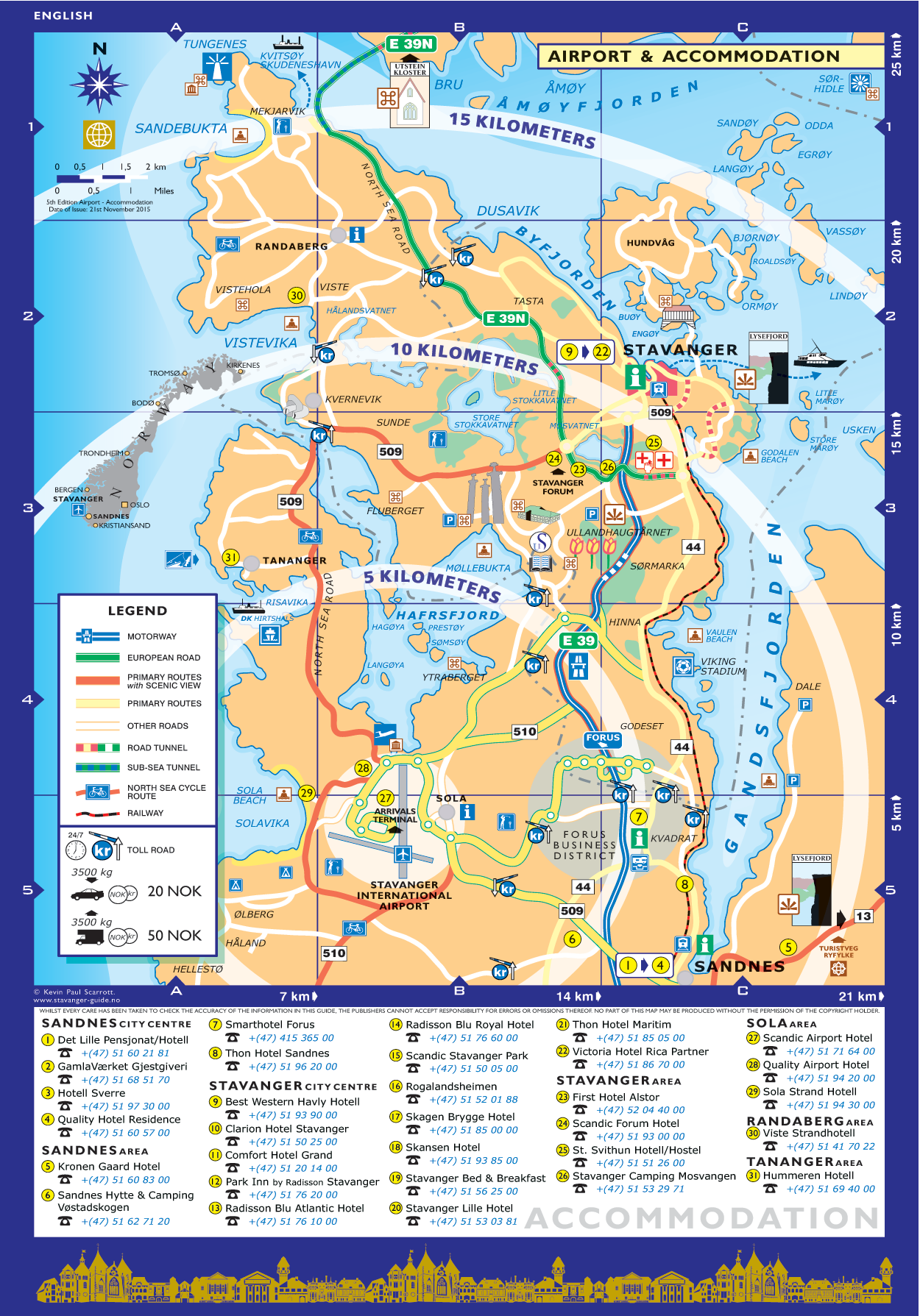 Stavanger Guide Maps Stavanger City Map Norway English - Norway map download pdf
