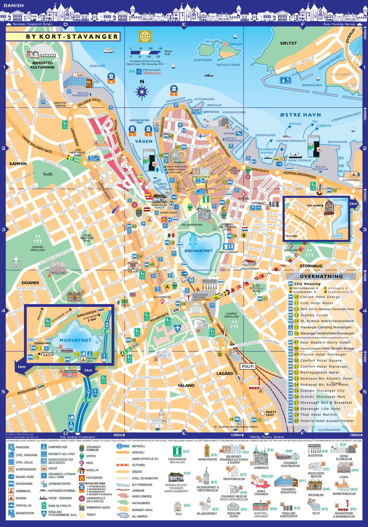 Stavanger by kort