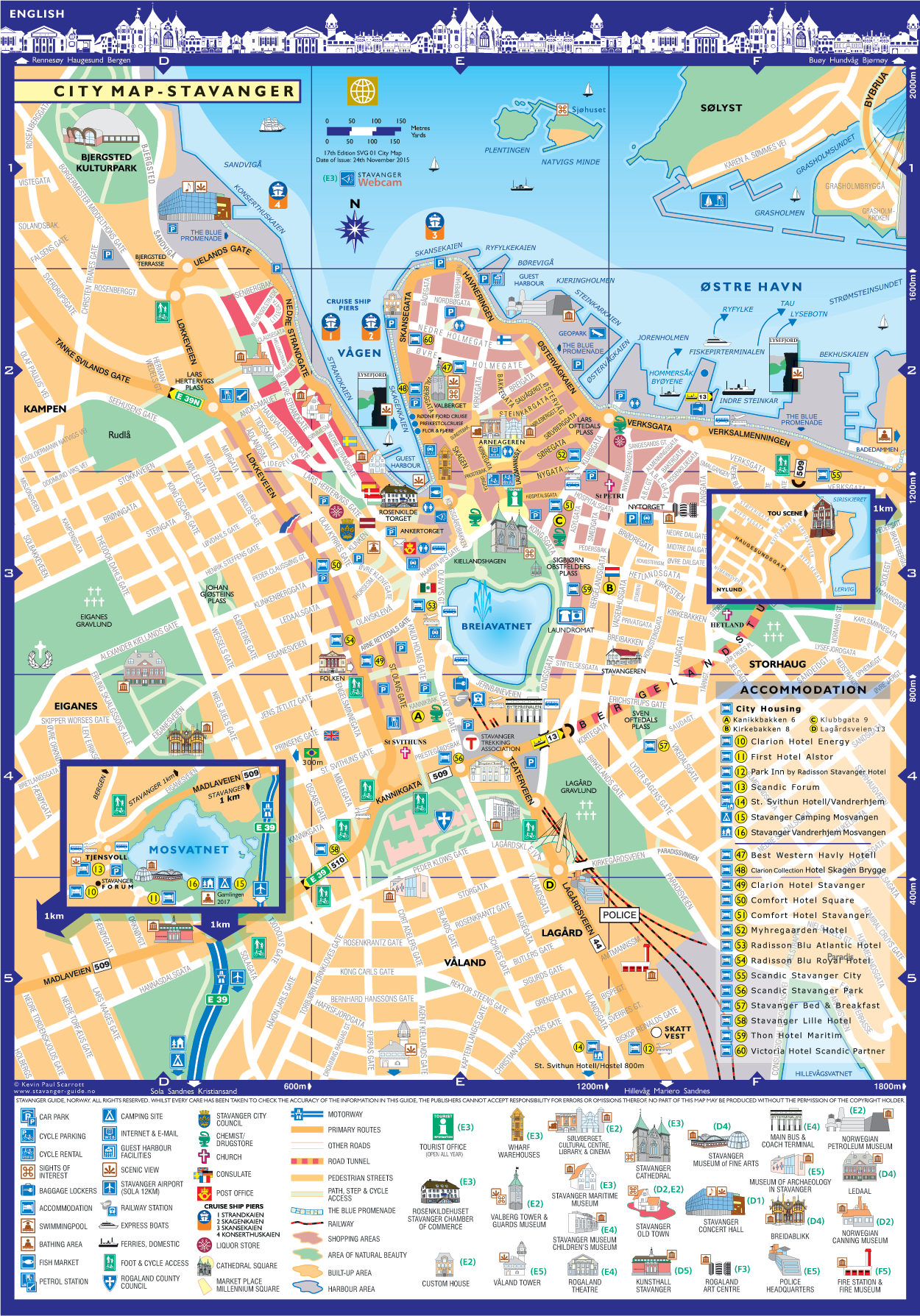 Stavanger Guide Maps Stavanger City Map Norway English - Norway map stavanger