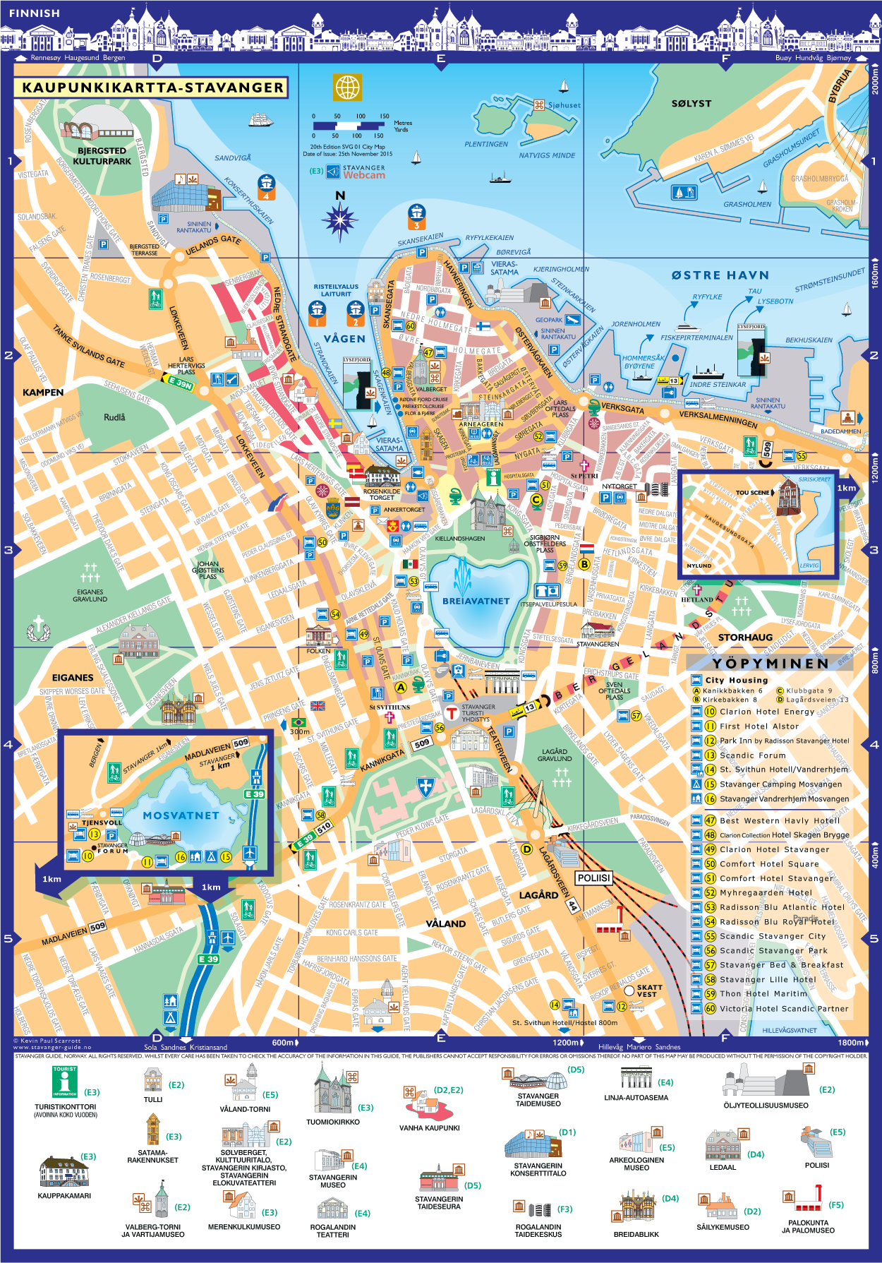 Stavanger kaupunginkartta
