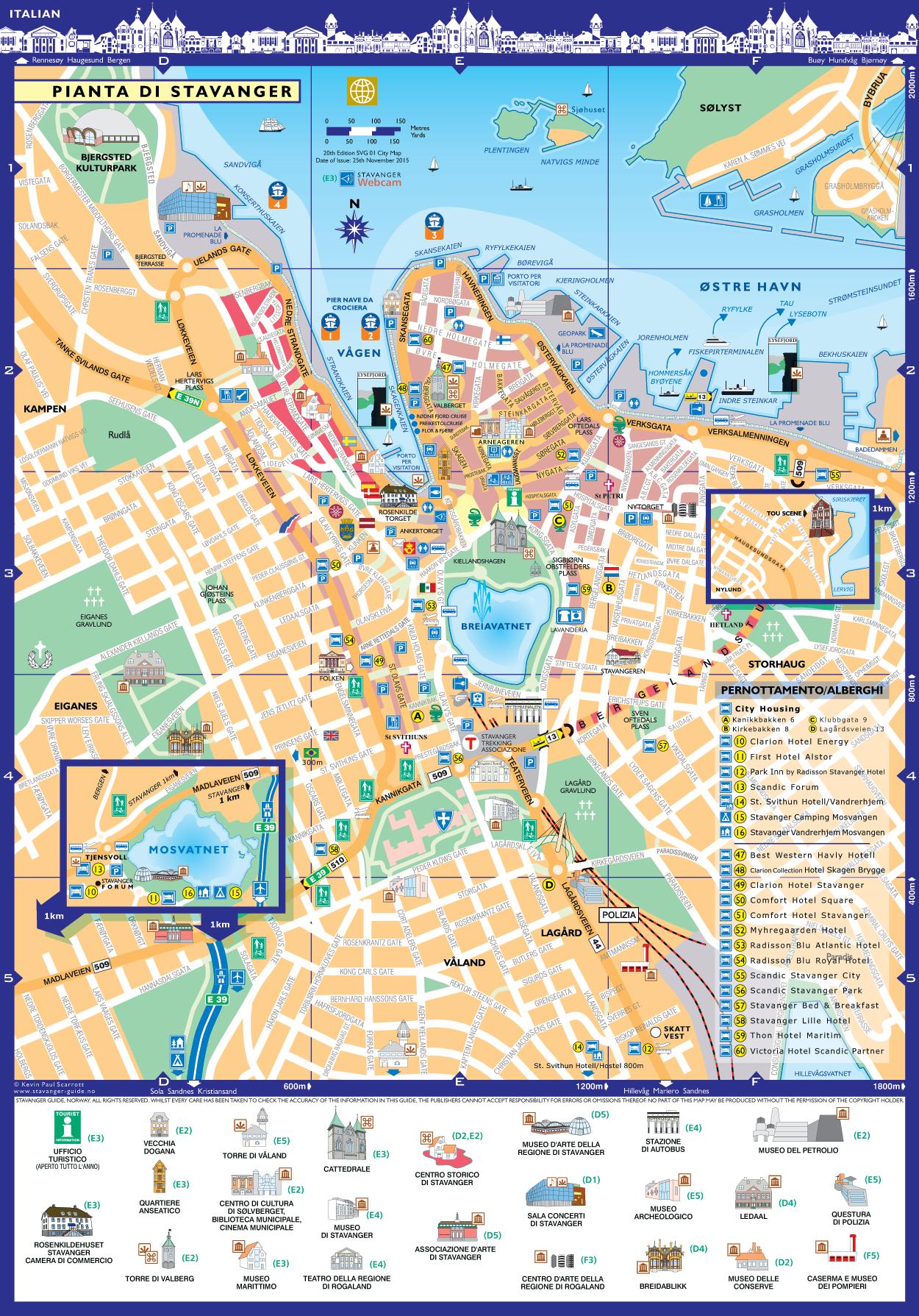 Stavanger Pianta della Citta
