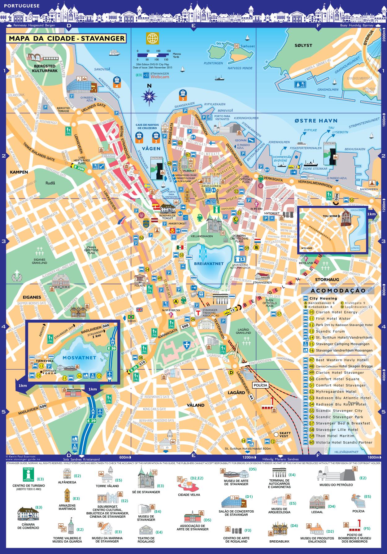 Stavanger Mapa da Cidade