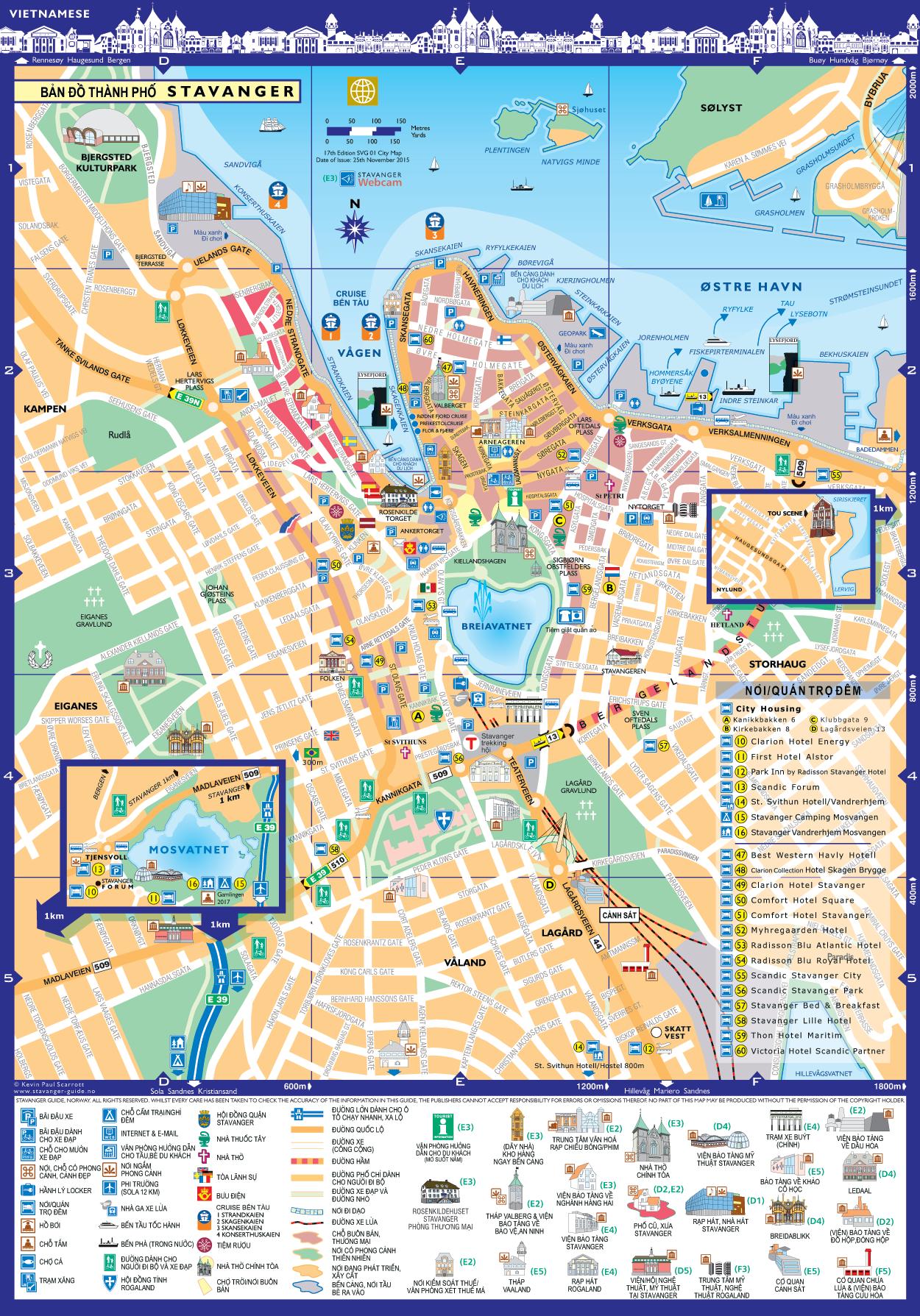 Bản đồ thành phố Stavanger