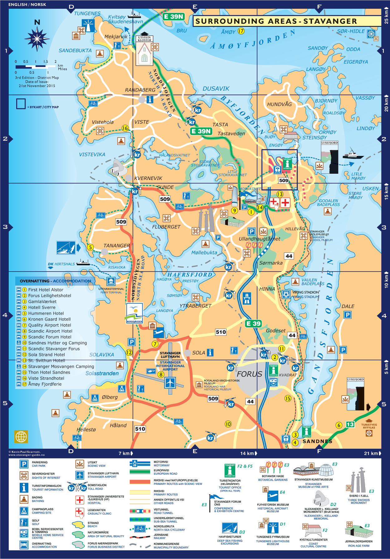 Stavanger Guide Maps Stavanger City Map Norway English - Norway map picture