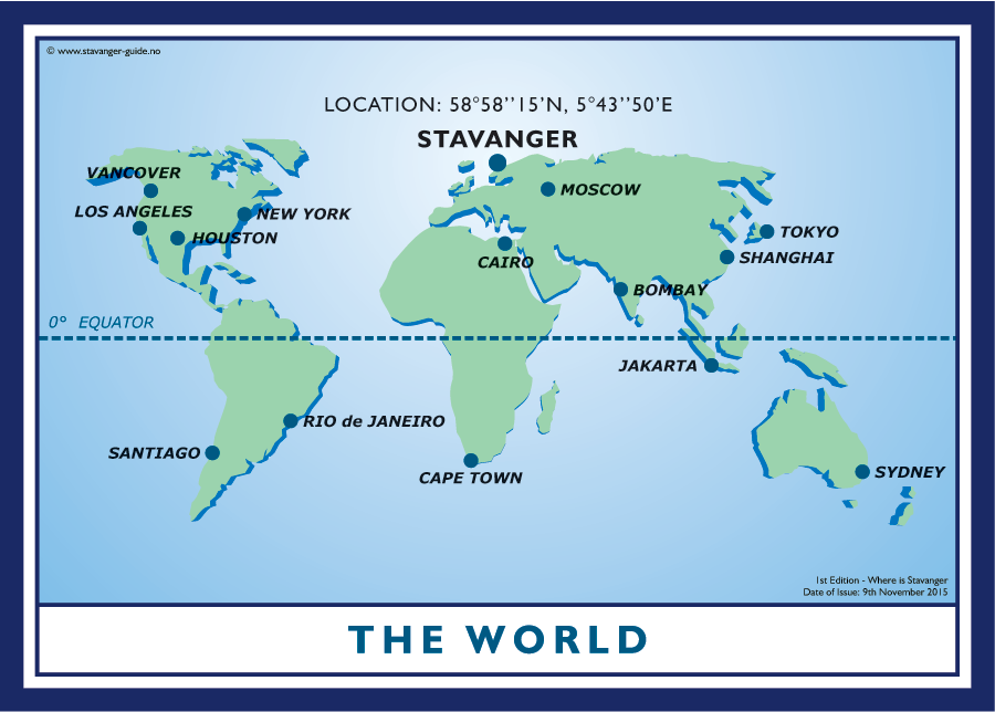 Where is Stavanger in relation to The World?