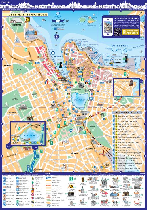 Stavanger City Map
